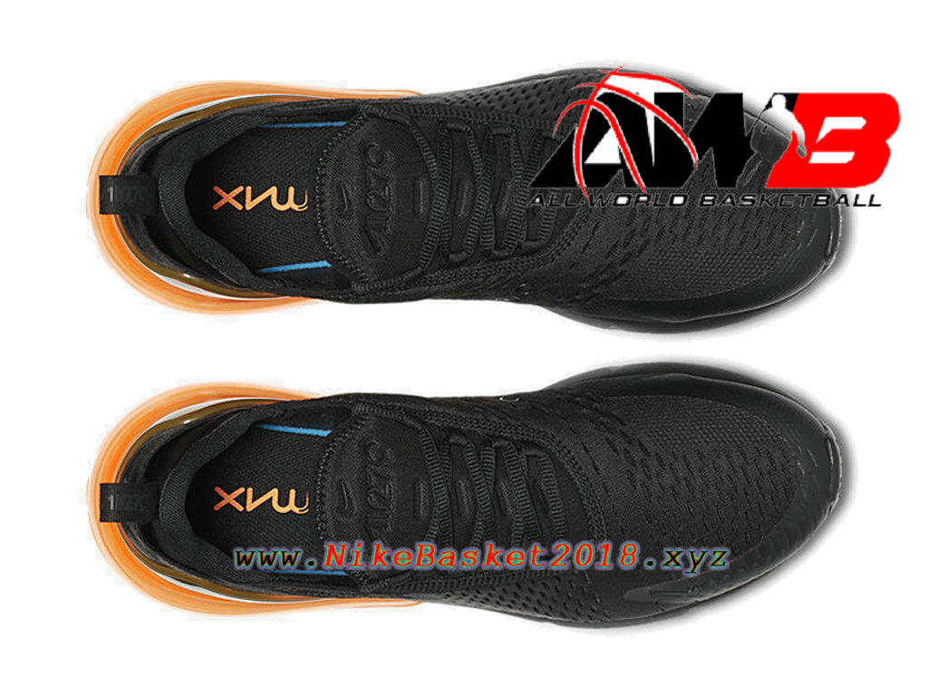 2125ba05366d4 ... Chaussures Officiel 2018 Pas Cher Pour Homme Nike Air Max 270 Noir  Orange AH8050-008 ...