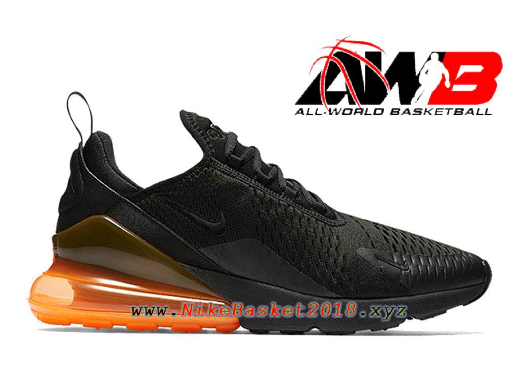 free shipping 6e406 55412 Chaussures Officiel 2018 Pas Cher Pour Homme Nike Air Max 270 Noir Orange  AH8050-008