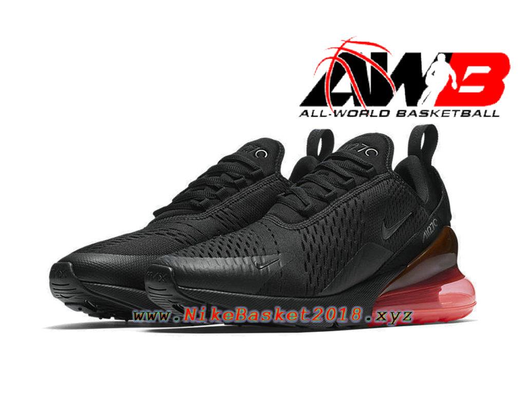 ... Chaussures Officiel 2018 Pas Cher Pour Homme Nike Air Max 270 Noir Rose AH8050-010 ...