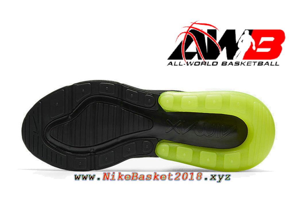 Nike Air Max 270 Noir Jaune Vert Neon Ah8050 011 Homme