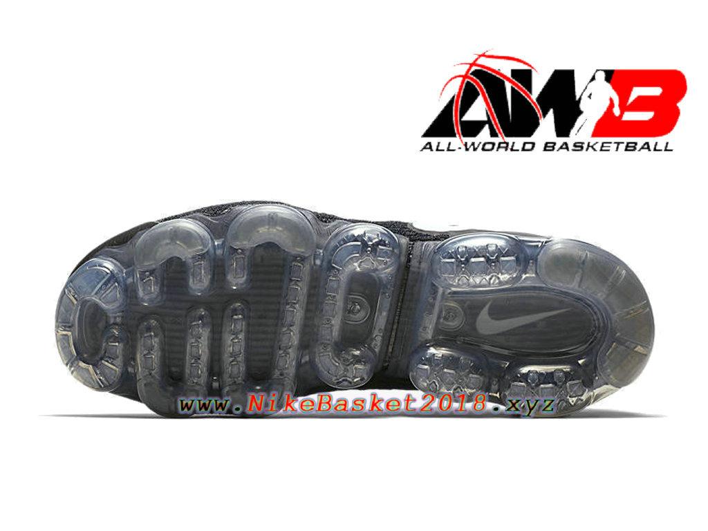 8f990fd891ba6 ... Chaussures Officiel 2018 Pas Cher Pour Homme Nike Air VaporMax Flyknit  2.0 Noir Blanc 942842- ...