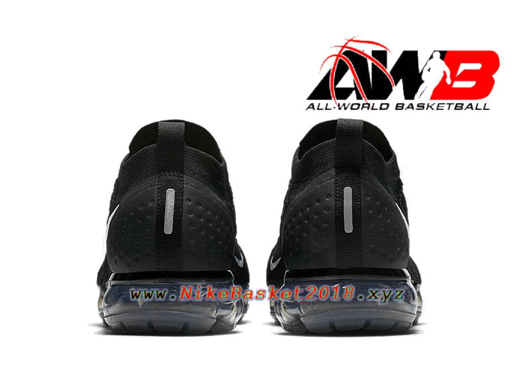 77660821c30c6 ... Chaussures Officiel 2018 Pas Cher Pour Homme Nike Air VaporMax Flyknit  2.0 Noir Blanc 942842-