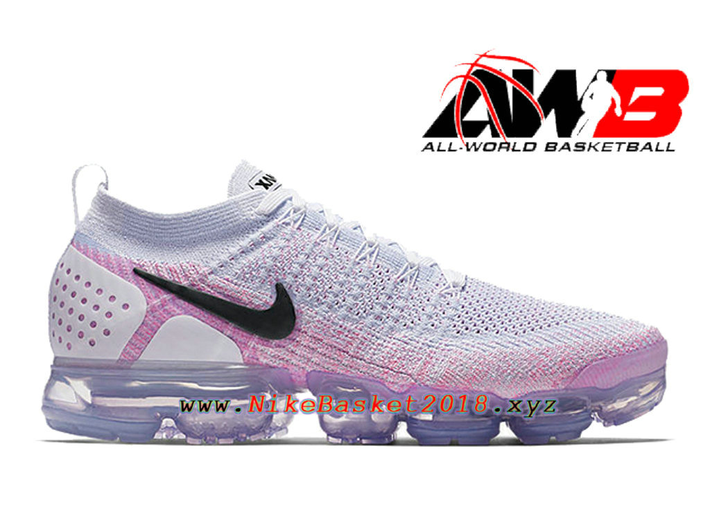 new style f35c0 a3999 Chaussures Officiel 2018 Pas Cher Pour Homme Nike Air VaporMax Flyknit 2.0  Rose Blanc 942842- ...