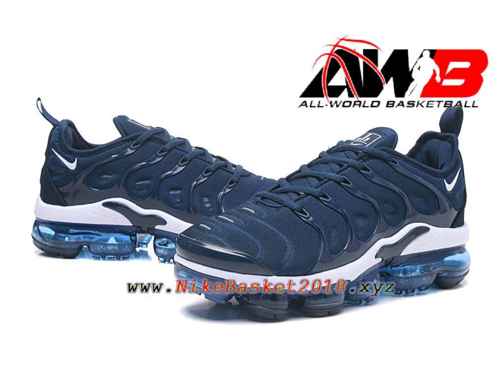 bb749e74b045e ... Chaussures Officiel 2018 Pas Cher Pour Homme Nike Air VaporMax Plus  Bleu Blanc 924453-ID6 ...