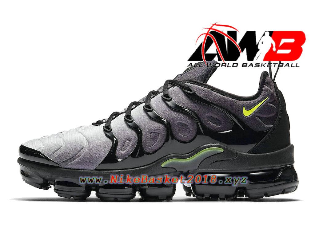 Chaussures Officiel 2018 Pas Cher Pour Homme Nike Air VaporMax Plus Noir Vert 924453-009 ...