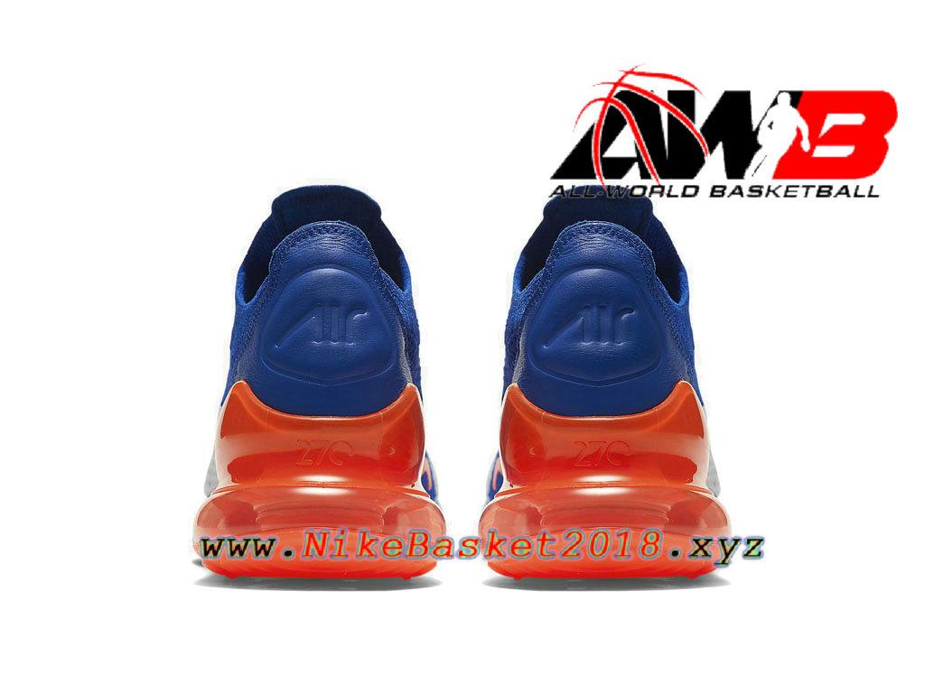 air max 270 flyknit bleu orange