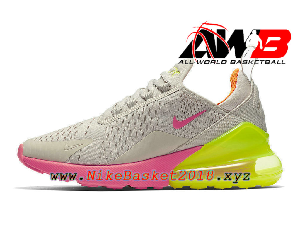 brand new d844b 29f95 Chaussures Officiel Prix Pas Cher Pour Homme Nike Air Max 270 Neon Pink  Orange AH6789-