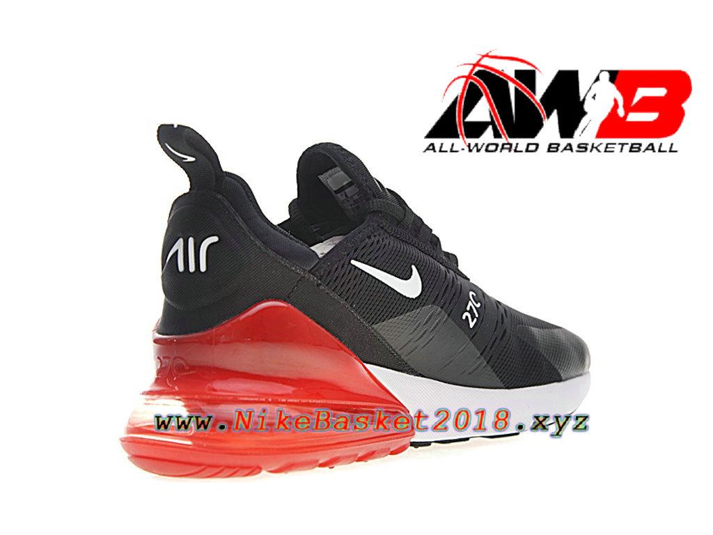 premium selection 5284f d8c9a ... Chaussures Officiel Prix Pas Cher Pour Homme Nike Air Max 270 Noir Rouge  AH8050-015 ...