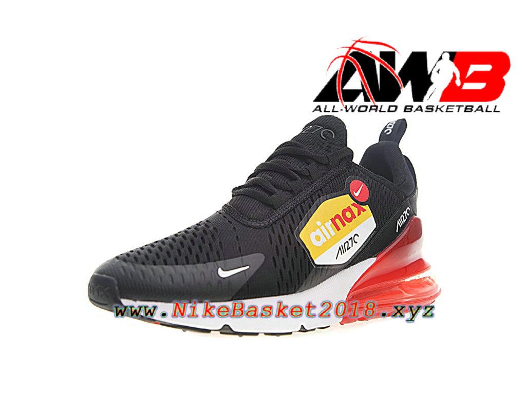 wholesale dealer 3e264 49848 ... Chaussures Officiel Prix Pas Cher Pour Homme Nike Air Max 270 Noir  Rouge AH8050-015 ...