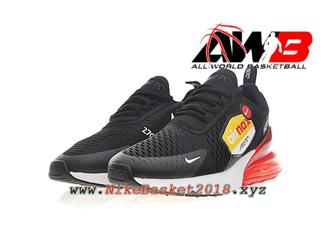 c5fa8254f0ecb ... Chaussures Officiel Prix Pas Cher Pour Homme Nike Air Max 270 Noir  Rouge AH8050-015 ...