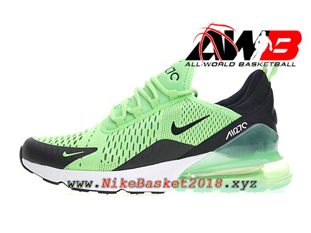 new product 40ba6 963c6 Chaussures Officiel Prix Pas Cher Pour Homme Nike Air Max 270 Vert Noir  AH8050-301 ...