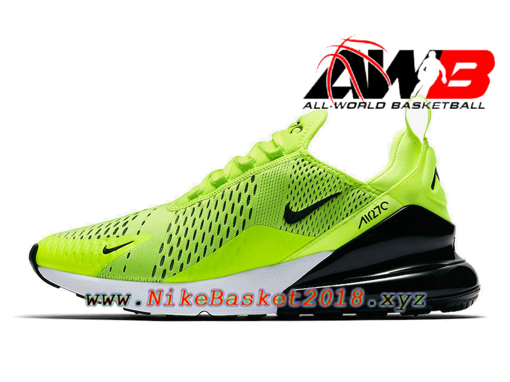 chaussures officiel prix pas cher pour homme nike air max 270 volt vert noir ah8050 701. Black Bedroom Furniture Sets. Home Design Ideas