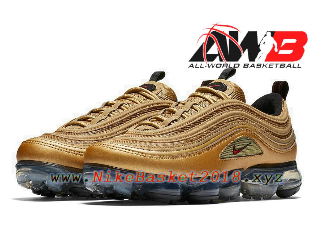 designer fashion e4f34 48926 Chaussures Officiel Prix Pas Cher Pour Homme Nike Air VaporMax 97 Metallic  Gold AJ7291,700 ...