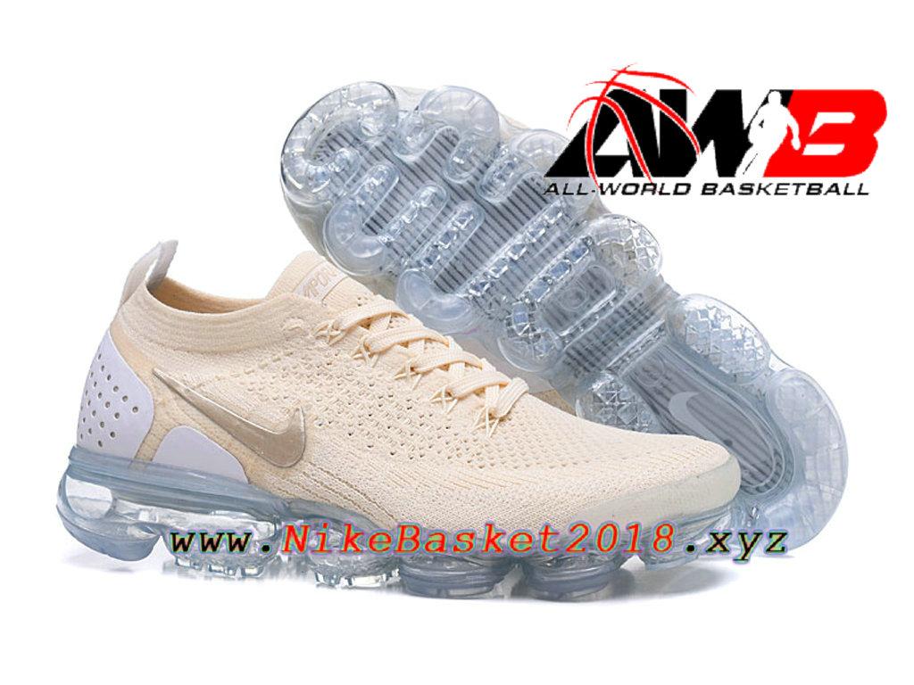 meet 74f68 82bb7 ... Chaussures Officiel Prix Pas Cher Pour HommeNike Air VaporMax Flyknit  2.0 W Brun Blanc 942843- ...