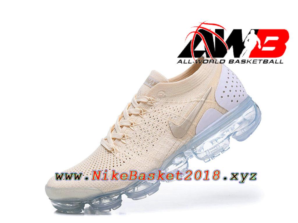 meet 4929f 49e45 ... Chaussures Officiel Prix Pas Cher Pour HommeNike Air VaporMax Flyknit  2.0 W Brun Blanc 942843- ...