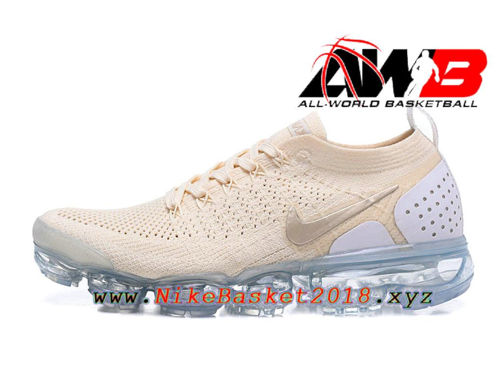official photos 33e41 2dc1e Chaussures Officiel Prix Pas Cher Pour HommeNike Air VaporMax Flyknit 2.0 W  Brun Blanc 942843- ...