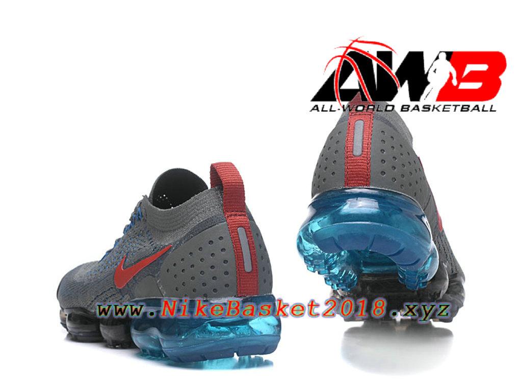 detailed look b00f6 fbb5e ... Chaussures Officiel Prix Pas Cher Pour HommeNike Air VaporMax Flyknit  2.0 W Gris Bleu 942842-