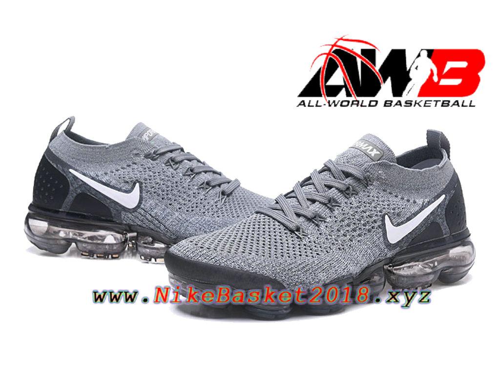bc58a3f207 ... Chaussures Officiel Prix Pas Cher Pour HommeNike Air VaporMax Flyknit  2.0 W Gris Noir 942842- ...