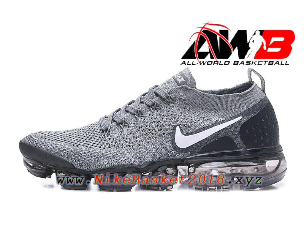 sale retailer 0f66f 64d34 Chaussures Officiel Prix Pas Cher Pour HommeNike Air VaporMax Flyknit 2.0 W  Gris Noir 942842- ...
