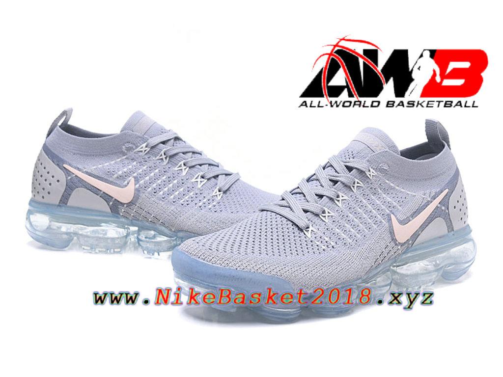 best loved ea0ef 99a8b ... Chaussures Officiel Prix Pas Cher Pour HommeNike Air VaporMax Flyknit  2.0 W Gris Rose 942843- ...