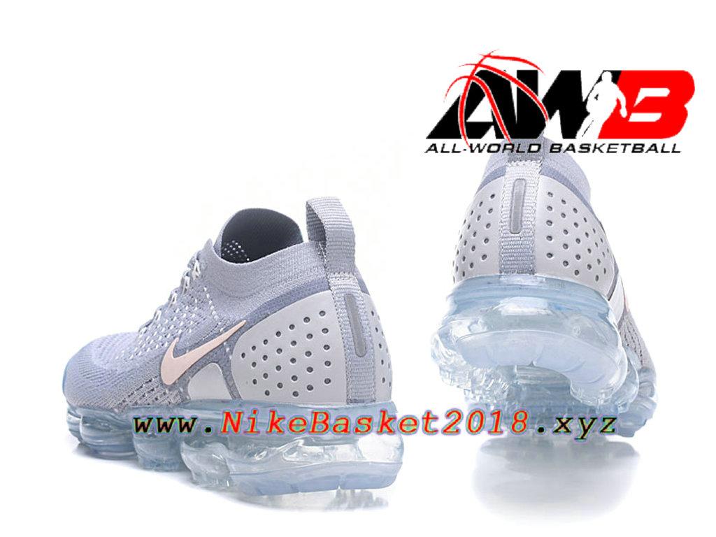 wholesale dealer 5c2d5 aca8b ... Chaussures Officiel Prix Pas Cher Pour HommeNike Air VaporMax Flyknit  2.0 W Gris Rose 942843-