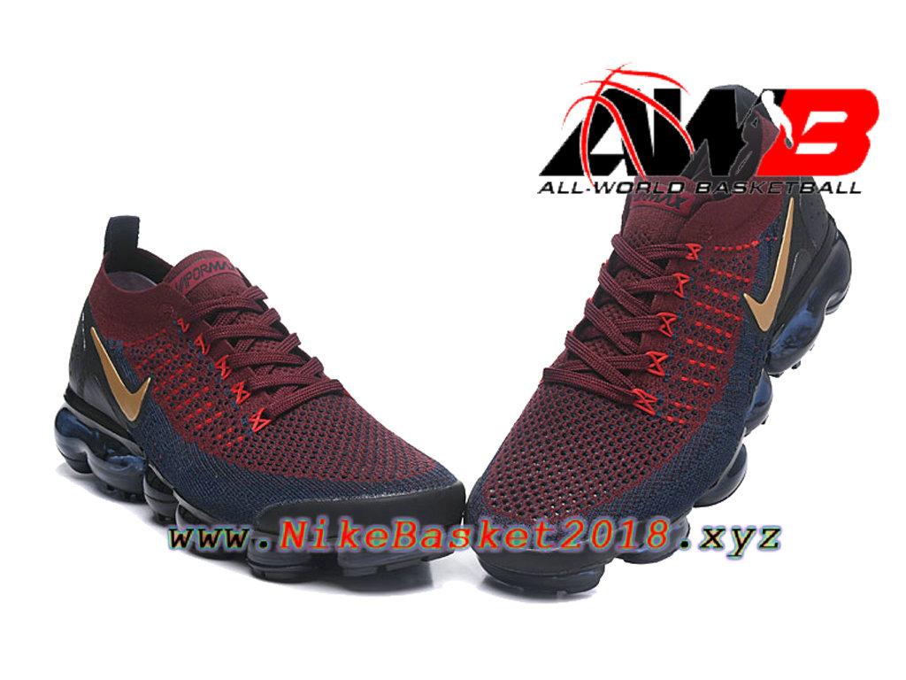 new concept 93bac e3caf ... Chaussures Officiel Prix Pas Cher Pour HommeNike Air VaporMax Flyknit  2.0 W Rouge Noir 942842- ...